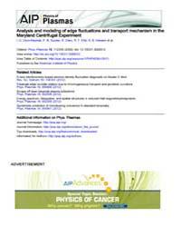 Physics of Plasmas : Analysis and modeli... Volume Issue : November 2008 by I. U. Uzun-Kaymak, P. N. Guzdar, R. Clary, R. F. E...