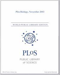 Monthly Biology Journal : Plos Biology N... Volume 1 by Bloom, Theodora