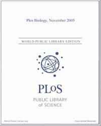 Monthly Biology Journal : Plos Biology N... Volume 3 by Bloom, Theodora