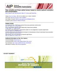 Review of Scientific Instruments : New v... Volume Issue : December 2008 by Rémy Claverie, Jean Paul Salvestrini, Marc D. Font...