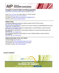 Review of Scientific Instruments : Cryog... Volume Issue : December 2008 by Nicolas Weiss, Ute Drechsler, Michel Despont, and ...