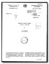 World Health Organization : Regioinal Of... by F. J. Maier