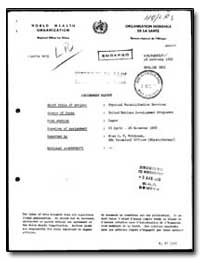 World Health Organization : Regioinal Of... by C. P. Robinson, Miss