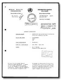 World Health Organization : Regioinal Of... by M. V. Chinien