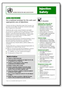 Aide-Memoire, No. A71914 by World Health Organization