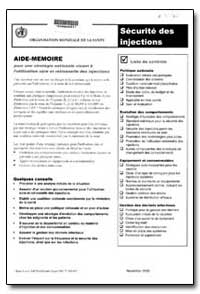 Aide-Memoire, No. A71914-In French by World Health Organization