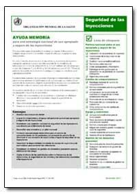 Aide-Memoire, No. A76981 by World Health Organization