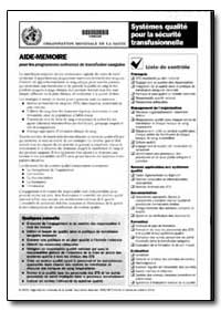 Aide-Memoire, No. A87774-In French by World Health Organization