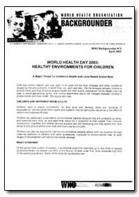 Backgrounder, 2003, Bg 03 3 by World Health Organization