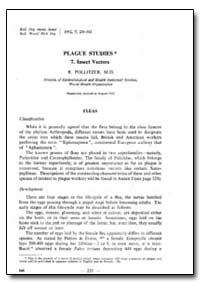 Bulletin of the World Health Organizatio... by R. Pollitzer, M. D.