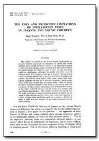 Bulletin of the World Health Organizatio... by Jean Walker Macfarlane