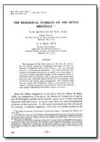Bulletin of the World Health Organizatio... by G. A. Beal