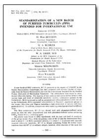 Bulletin of the World Health Organizatio... by W. A. Griep