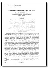 Bulletin of the World Health Organizatio... by James R. Busvine