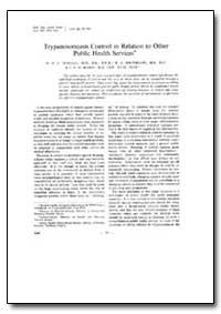 Bulletin of the World Health Organizatio... by N. R. E. Fendall