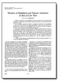 Bulletin of the World Health Organizatio... by J. D. Van Ramshorst