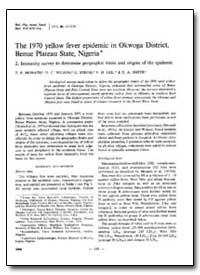 Bulletin of the World Health Organizatio... by T. P. Monath