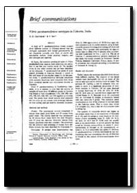 Bulletin of the World Health Organizatio... by B. D. Chatterjee