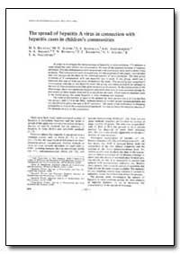 Bulletin of the World Health Organizatio... by M. S. Balayan