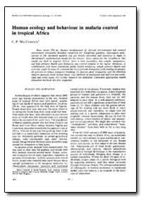 Bulletin of the World Health Organizatio... by C. P. Maccormack