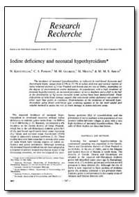 Bulletin of the World Health Organizatio... by N. Kochupillai