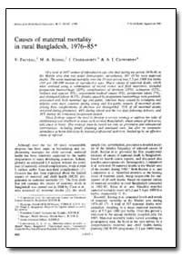 Bulletin of the World Health Organizatio... by V. Fauveau