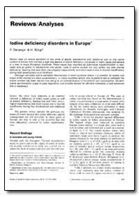 Bulletin of the World Health Organizatio... by F. Delange, Dr.