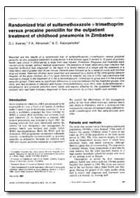 Bulletin of the World Health Organizatio... by D. J. Keeley
