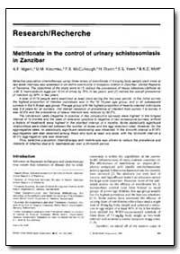 Bulletin of the World Health Organizatio... by A. F. Mgeni