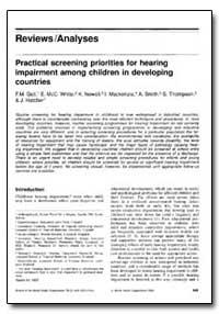 Bulletin of the World Health Organizatio... by F. M. Gell