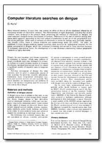 Bulletin of the World Health Organizatio... by G. Kuno