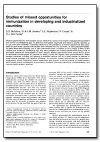 Bulletin of the World Health Organizatio... by S. S. Hutchins