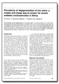 Bulletin of the World Health Organizatio... by B. Carme