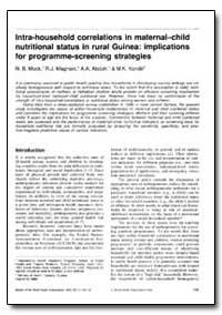 Bulletin of the World Health Organizatio... by N. B. Mock