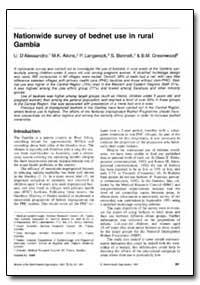 Bulletin of the World Health Organizatio... by U. Dalessandro