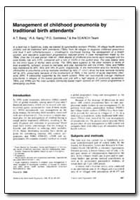 Bulletin of the World Health Organizatio... by A. T. Bang