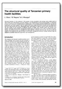 Bulletin of the World Health Organizatio... by L. Gilson
