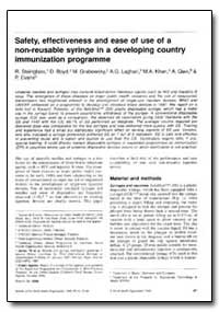 Bulletin of the World Health Organizatio... by R. Steinglass