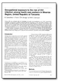 Bulletin of the World Health Organizatio... by B. Gurnodoka