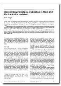 Bulletin of the World Health Organizatio... by W. H. Foegei