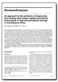 Bulletin of the World Health Organizatio... by A. D. Harries