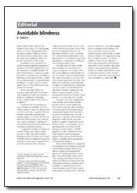Bulletin of the World Health Organizatio... by B. Thylefors