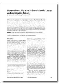Bulletin of the World Health Organizatio... by G. Walraven