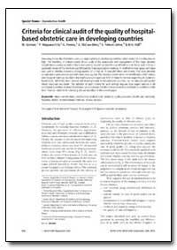 Bulletin of the World Health Organizatio... by W. Graham