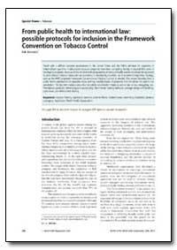 Bulletin of the World Health Organizatio... by Luk Joossens