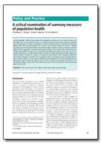 Bulletin of the World Health Organizatio... by Christopher J. L. Murray