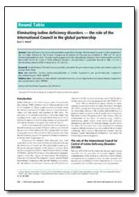 Bulletin of the World Health Organizatio... by Basil S. Hetzel