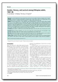 Bulletin of the World Health Organizatio... by Yemane Berhane