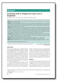 Bulletin of the World Health Organizatio... by Alexander Van Geen