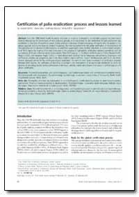 Bulletin of the World Health Organizatio... by Joseph Smith, Sir